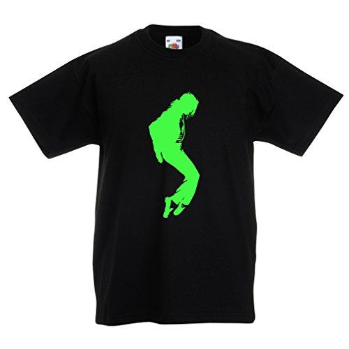 Camisas para niños Me Encanta MJ - Ropa de Club de Fans, Ropa de Concierto (12-13 Years Negro Verde)