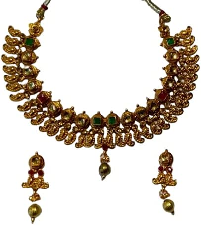 NEW INDIA JEWELLERY Trending South indian Ethnic Bollywood Fashion Traditional Necklace set Women Fashion
