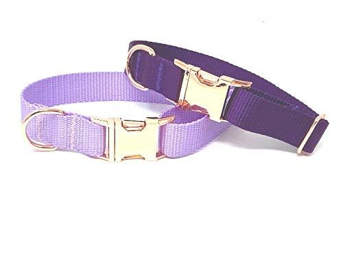 Dog Collar for Girls, Purple, Lavender, Lilac, Female, Nylon, Pet Collar (L 1' W X 15-24', Lavender/Lilac)