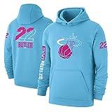 Haoshangzh55 Jimmy Butler - Camiseta de baloncesto para deportes y ocio, sección fina, con capucha, color azul, XL
