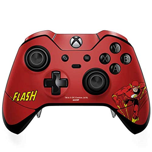 Skinit Decal Gaming Skin Compatible with Xbox One Elite Controller - Officially Licensed Warner Bros Flash Portrait Design