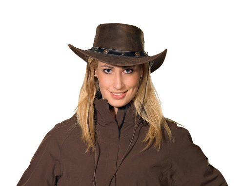 Pfiff 101003 Westernhoed Texas, ruw leer, Cowboyhoed, hoed Western Cowboy, bruin
