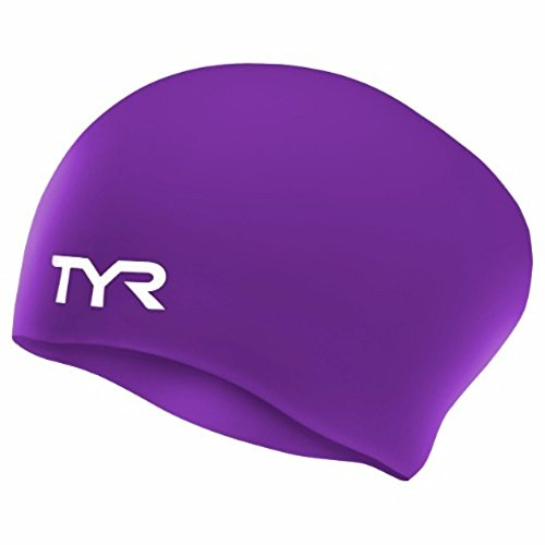 TYR Long Hair SILCON Cap, Purple, one Size