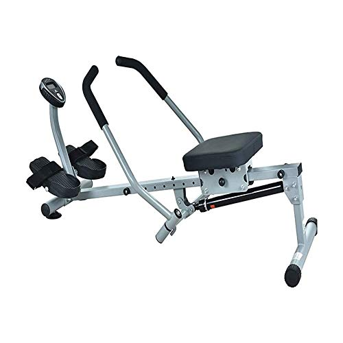 LKNJLL Health & Fitness Incline Full Motion Rowing Machine Rower with 350 Lb Weight Capacity and LCD Monitor