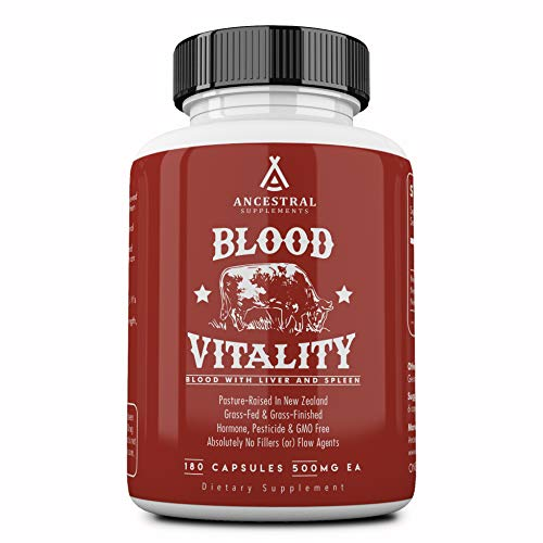 Ancestral Supplements Blood Vitality (w/ Blood, Liver, Spleen) — Supports Life Blood, Bioavailable Heme Iron, Energy and Exercise Performance