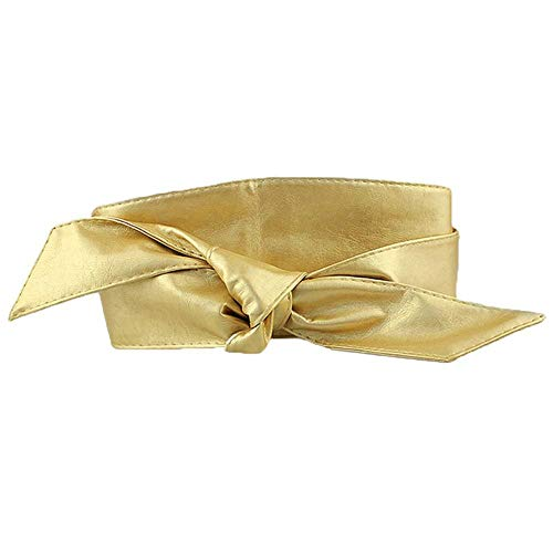 Boner Cintura de Encaje Mujeres Corsés Anchos Cinturones fajines para Mujeres Cintura Cinturón Delgado Cinturón Bandas de Arco, Dorado
