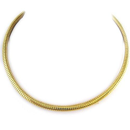 Les Trésors De Lily [L7631 - Collier 'Maille Omega' Gold (40 cm 5 mm).