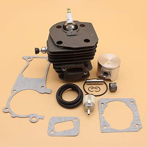 HH-JU, 44mm cilindro de pistón válvula de descompresión de juntas en forma for el HUSQVARNA 350 351 353 346 346XP Gas motosierra Motor Motor Kit de reconstrucción