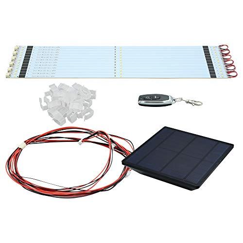 Hengda Lichterkette für Sonnenschirm,Sonnenschirm Lichter mit Fernbedienung und Sonnenkollektoren,48 LEDs Sonnenschirm Lichterkette Beleuchtung Deko für Regenschirme, Campingzelte,Outdoor-Dekoration