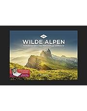 Wilde Alpen Tischkalender 2021: Wochenkalender mit Terminplaner