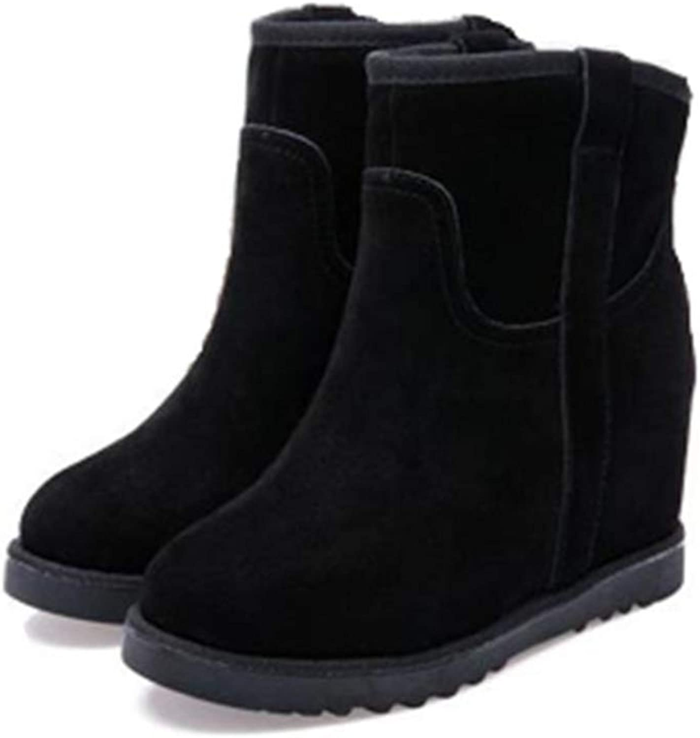 Winter Warm Slope with Increasing Snow Boots Woman Short Boots Women's Short Barrel Matte shoes
