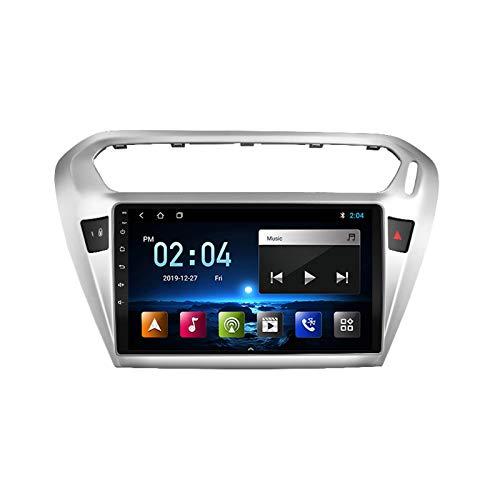 MGYQ Radio De Coche Bluetooth con Pantalla Táctil 1080P De 9 Pulgadas, para Peugeot 301 2014-2018 Autoradio Soporte Sistema Android/Control del Volante/FM/USB/AUX Reproducción,Quad Core,4G WiFi 2+32