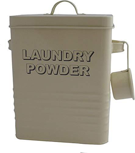 Lesser & Pavey 2 x 32 cm Home Sweet Home Cream Laundry Powder Storage tin