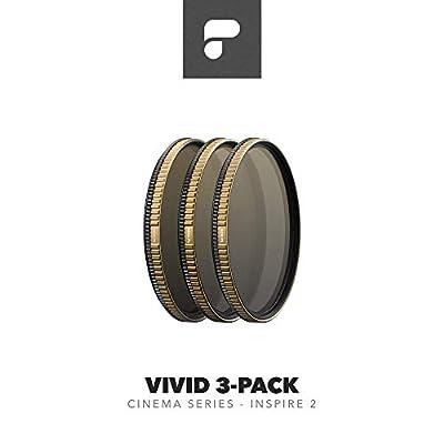 PolarPro DJI Inspire 2 Cinema Series 3 Pack VIVID Filter for Drone