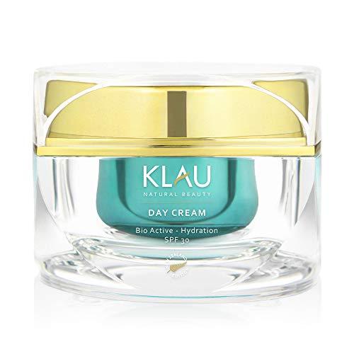 KLAU Bio-Tagescreme, Anti-Age Gesichtscreme mit LSF30 + - Natürliche Feuchtigkeitscreme mit Inhaltsstoffen aus Neuseeland - 50 ml