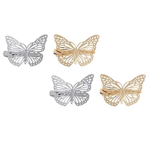 FRCOLOR 4 Pinzas para El Pelo Minimalistas Y Delicadas Pasadores para El Pelo de Mariposas Pasadores para El Pelo a La Moda Pinzas Laterales para El Cabello Accesorios para El Cabello