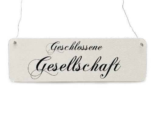 Interluxe Shaby Vintage Türschild GESCHLOSSENE Gesellschaft Restaurant Gaststätte Hotel