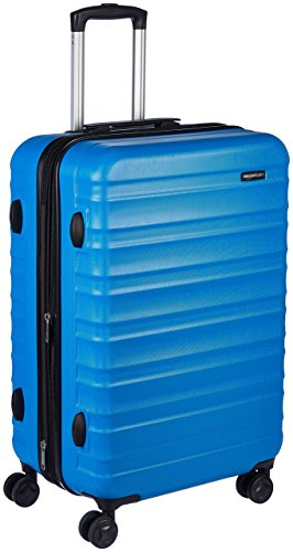 AmazonBasics Hardside Spinner Travel Luggage Suitcase - 26 Inch, Blue