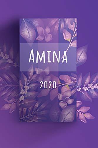 Terminkalender 2020: Für Amina personalisierter Taschenkalender und Tagesplaner ca DIN A5   376 Seiten   1 Seite pro Tag   Tagebuch   Wochenplaner