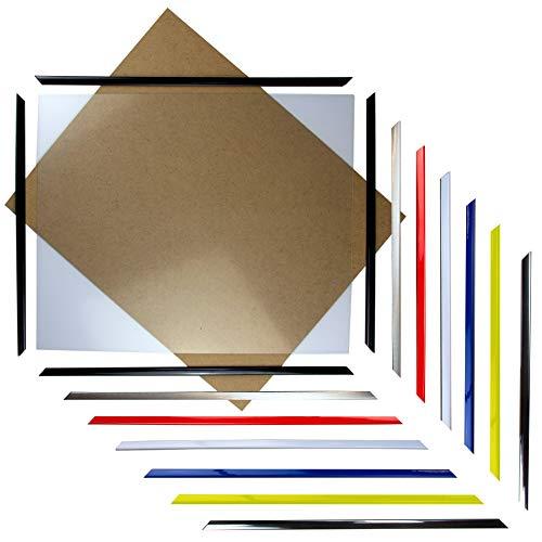 myposterframe Kunststoff Poster Rahmen 80 x 100 cm Styx Bilderrahmen mit Klemmfunktion Weiß mit Kunstglas klar 1mm