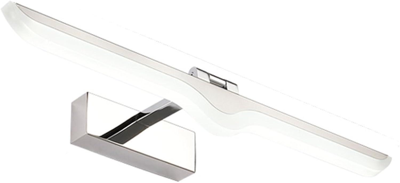 ZHDC Spiegel Spiegel Spiegel Scheinwerfer, Badezimmer Wandleuchte LED Spiegel Lampe Badezimmer Spiegel Licht einfach moderne Toilette Badezimmer wasserdicht lange 42 52 62 72 Stabil und zuverlssig ( Farbe   Warmwei-Long62cm )