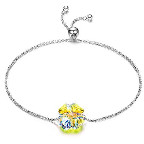 ANGEL NINA pulseras mujer plata de ley pulseras mujer baratas tous mujer joyeria Cristal de Austria regalos originales para mujer mama profesores regalos cumpleaños aniversario