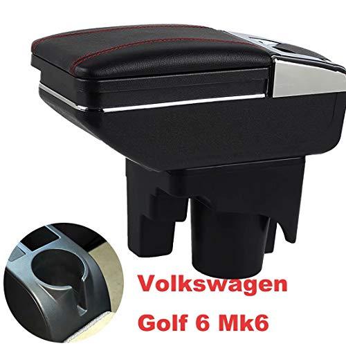 Armlehne Mittelkonsole Aufbewahrungsbox Mit Aschenbecher und Getränkehalter für Golf 6 Mk6 2008-2013 Jetta Mk5 2006-2011 Vento Wagon 2009 2010