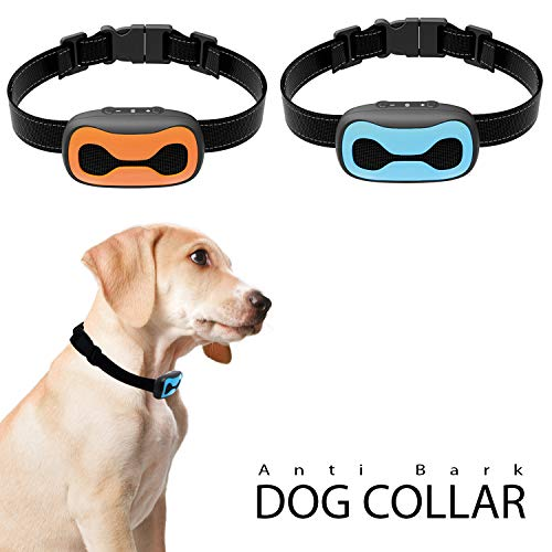 Newest 2019 Dog Bark Collar - Humane Anti Barking Training Collar - Vibration No Shock Dog Collar - Stop Barking Collar for Small Medium, Large Dogs - Best No Barking Control Dog Collar