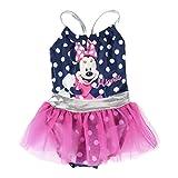 Cerdá Bañador Niña Minnie Mouse con Tutu de 1 Pieza-4 Años, Azul, Niñas