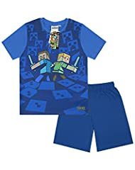 Minecraftn Camisetas Surrounded Boy's Pyjamas Manga Corta para Niño