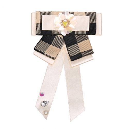 Treend24 barok strik beige zwatz bloemenkrans magneet broche gothic blouses anime cosplay fluweel satijn pompeus Sissi heren dames unisex steeknaald zwart groen rood blauw textiel sieraden brooch riboon