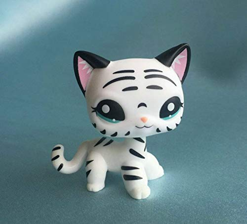 Littlest Pet Shop Custom OOAK LPS Short Hair Cat White Black Hand Painted Figure