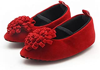FemmeStopper Baby Shoes Flower Born Infant Baby Girls Shoes Princess Red Baby Girl Shoes