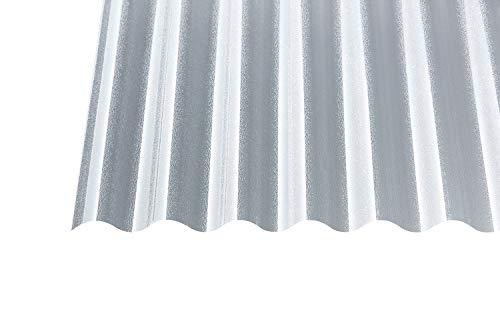 Acryl Wellplatten Profilplatten Sinus 76/18 C-Struktur klar 3 mm (3000 x 1045 x 3 mm)