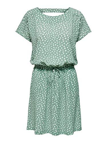 ONLY Womens ONLMARIANA MYRINA S/S DET NOOS WVN Casual Dress, Chinois Green, 40