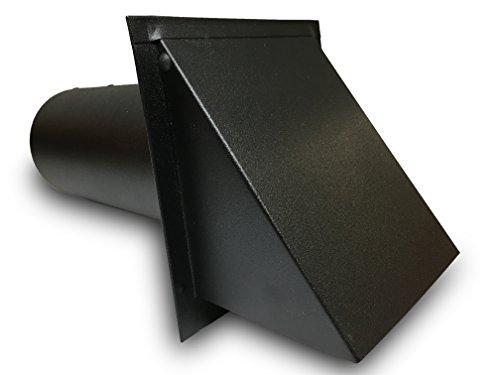 Deluxe Dryer Vent, Steel with Magnetic Damper (Black)