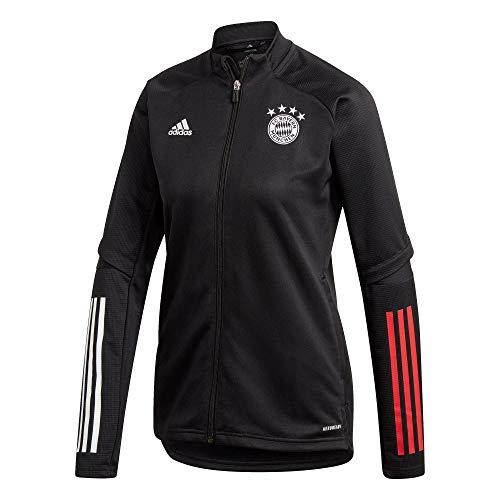 adidas Damen 20/21 FC Bayern Track Jacket Trainingsjacke, Black/Fcbtru, XS