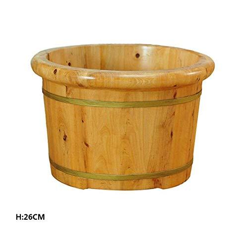 FAP Pedicure-wastafel, 26 cm, hoog, van massief hout, dubbele cederhout, wastafel van hout, badkamer, voor de voeten, gezondheid, massage van de voeten, badkamer voor voetbad massageapparaten, kleur hout