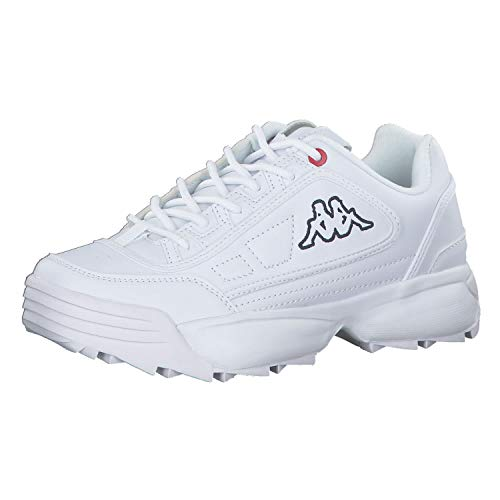 Kappa Unisex Rave NC Sneaker, 1010 White, 39 EU
