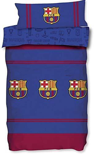 Asditex Futbol Club Barcelona FCB Funda Nórdica 2 Piezas Temporada 2019/2020 (Funda Nórdica y Funda de Almohada) (90 cm)