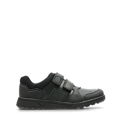 Clarks, Chaussures Basses pour Garçon - Noir - Noir, 27 EU E
