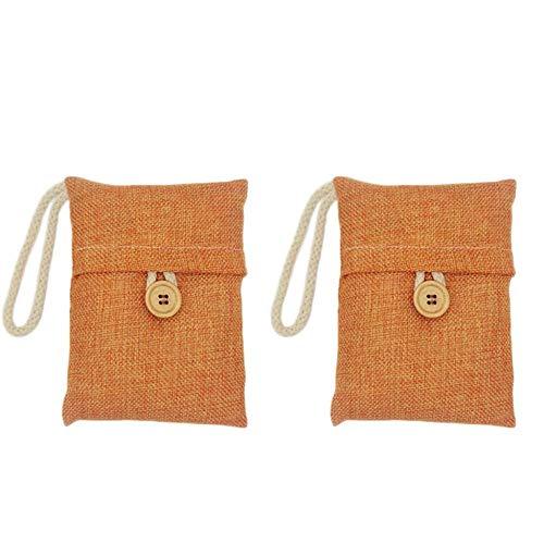 Tasche aus Aktivkohle zur Geruchsentfernung 2 Stück Bambuskohle stinkend entfernt die Absorber von Lufterfrischern für Schränke aus Aktivkohle D