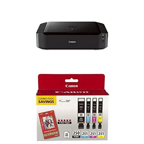 Canon PIXMA iP8720 + PGI-250 PGBK / CLI-251 CMY Combo Pack + 50 sheets Photo Paper...