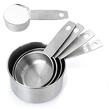 Measuring Cups Set 5 Piece 304 Stainless Steel Measuring Cup Kitchen Cooking and Baking Metal Accessories and Tools
