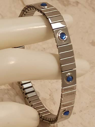 Pulsera de plata de zafiro simple de 8 mm para parejas, regalo devocional de septiembre, nacimiento, hecho a mano, regalo de cumpleaños, aniversario, graduación