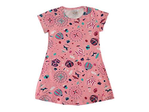 Kit 4 Vestidos Infantil Menina Cotton Roupa Feminina Atacado Desenho do tecido:Estampado/Sortido;Tamanho:3