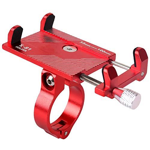 Macabolo Soporte de teléfono de bicicleta de montaña, ajustable de aleación de aluminio de montaje para bicicleta de teléfono celular GPS soporte giratorio abrazadera de cuna