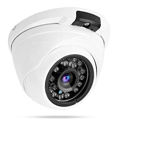 Cámara IP Domo, 1080P Cámara Exterior de Metal para Interiores Monitor de Red a Prueba de Agua Vista Nocturna por Infrarrojos para la Seguridad del hogar