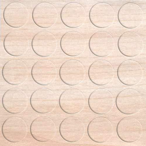 haggiy Selbstklebende Abdeckkappen für Möbel - Durchmesser 14 mm - 25 Stück - Möbelpflaster (Ahorn)