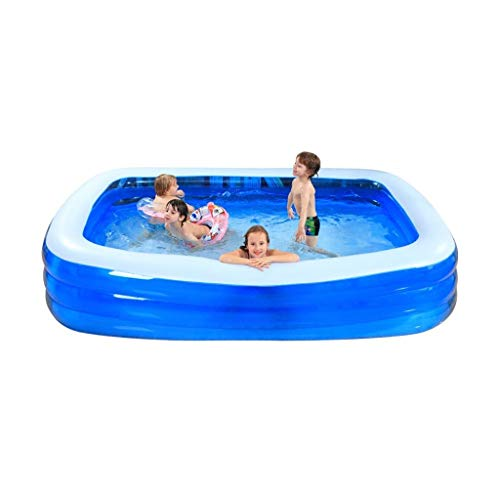 CFSAFAA Piscina Inflable Blue Child Inflatable Piscina Familia Super Large Ocean Pool Grupo Familia Inicio Piscina (Tamaño: S) Piscina portátil para niños y murciélagos Familiar